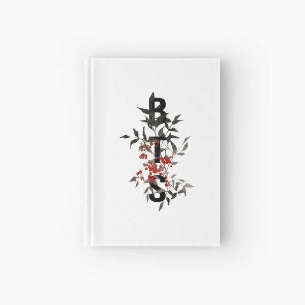 BTS Black and Red Flower Design Hardcover Journal