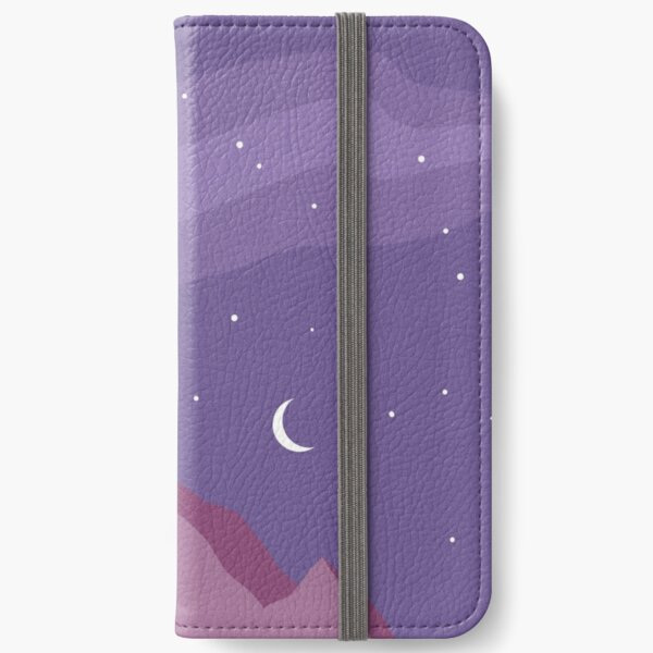 Purple Mountains and Moonlight iPhone Wallet
