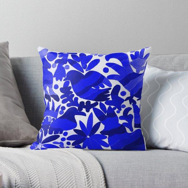 Otomi Dark Blue  Throw Pillow