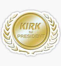 Kirk for President Sticker