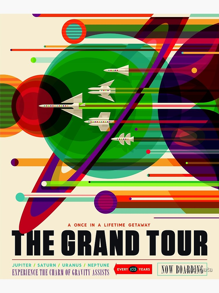 NASA Space Tourism Posters: Grand Tour by nadegata