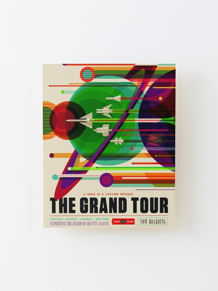 Alternate view of NASA Space Tourism Posters: Grand Tour Mounted Print