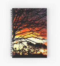 Sunset and tree silhouettes Spiralblock