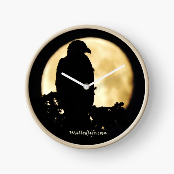 Eagle Silhouette Clock