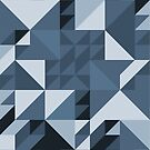 Triangle are Square (blue) by modernistdesign