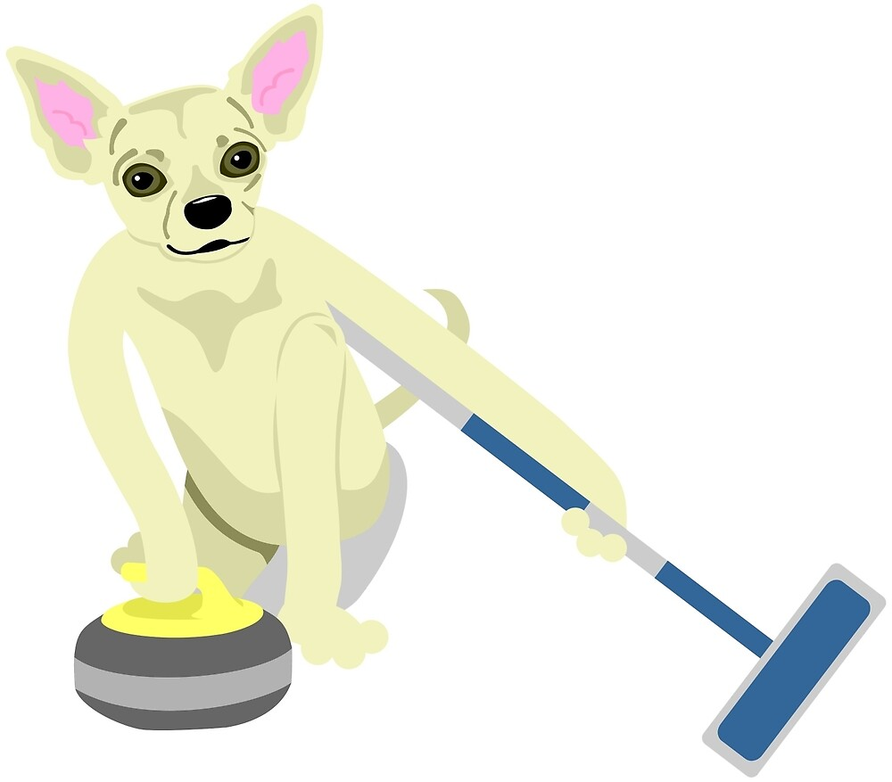 Chihuahua Curling by pounddesigns