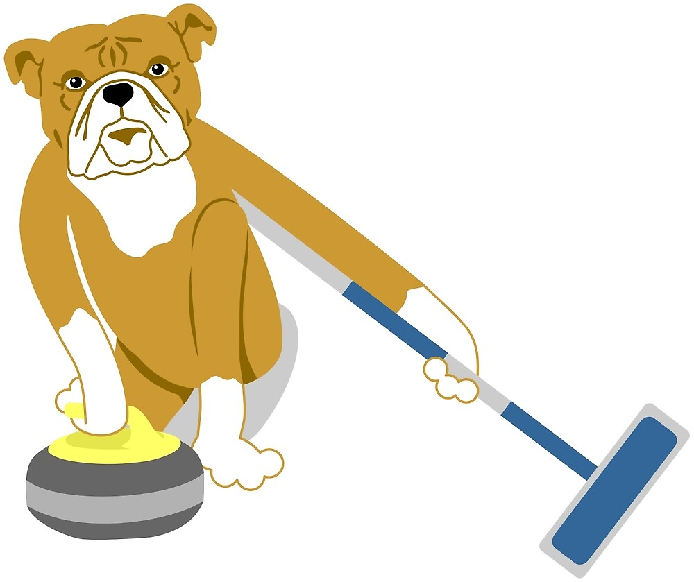 Bulldog Curling by pounddesigns