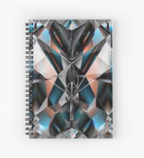 Metallight Bishop Orange Blue Spiral Notebook
