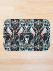 Metallight Bishop Orange Blue Bath Mat