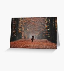 Riding in the magic of late autumn Greeting Card