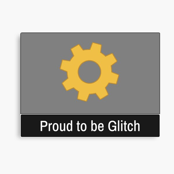 Starbound Proud to be Glitch Canvas Print