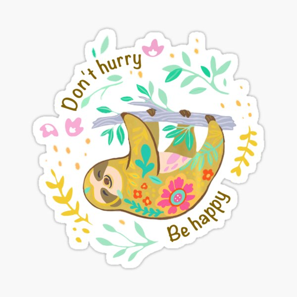 Sloth Running Team Stickers Redbubble