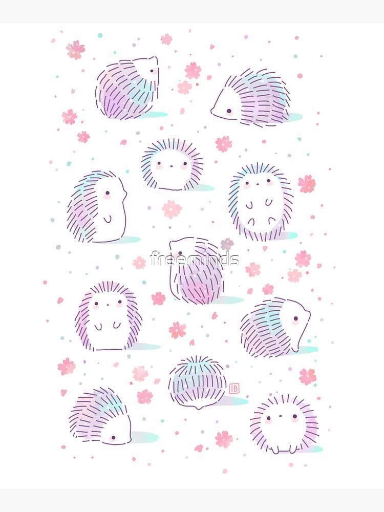 Spring Hedgehog Pattern by freeminds