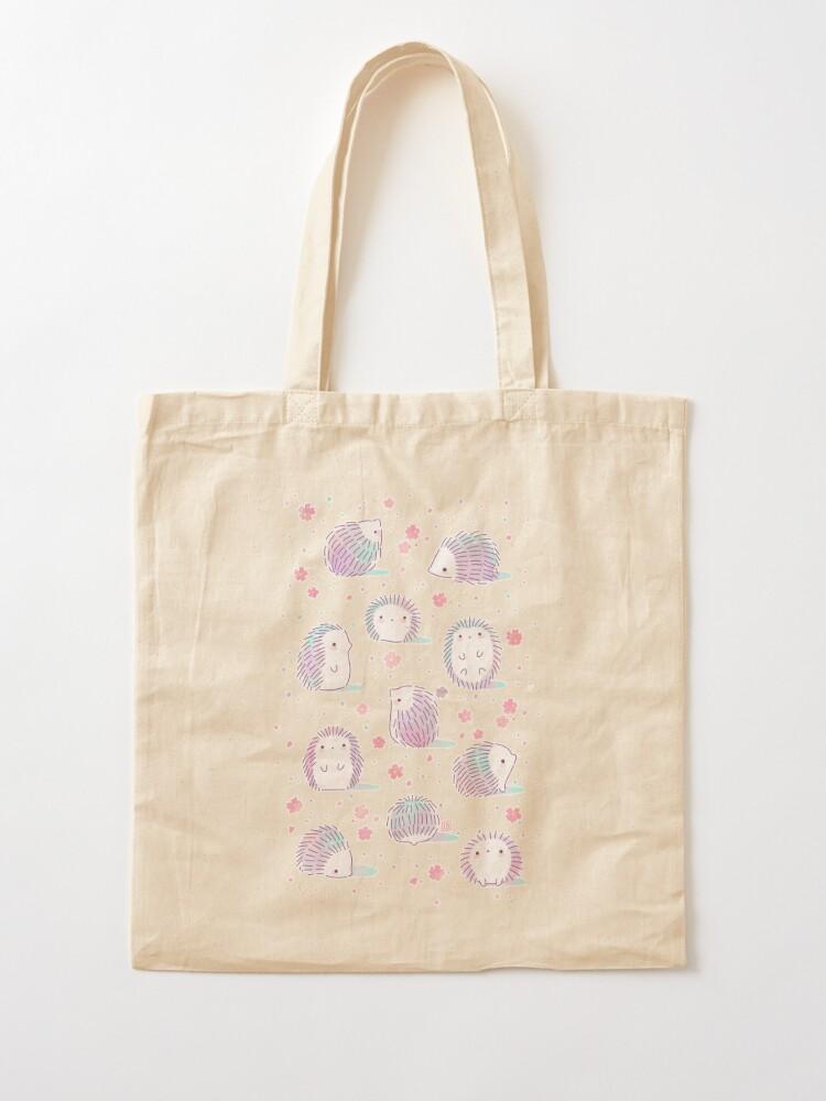 Alternate view of Spring Hedgehog Pattern Tote Bag