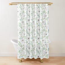Koala and Eucalyptus Pattern Shower Curtain