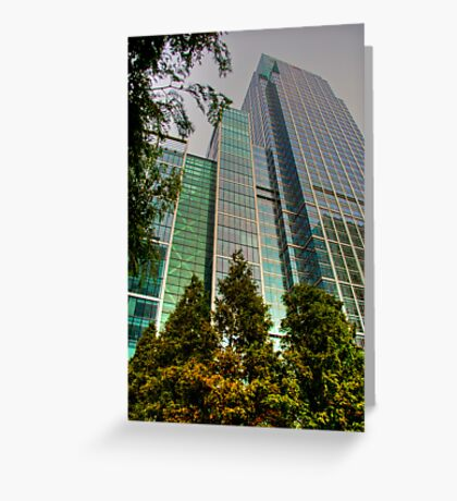Canary Wharf SkyScrapers: London, UK. Greeting Card