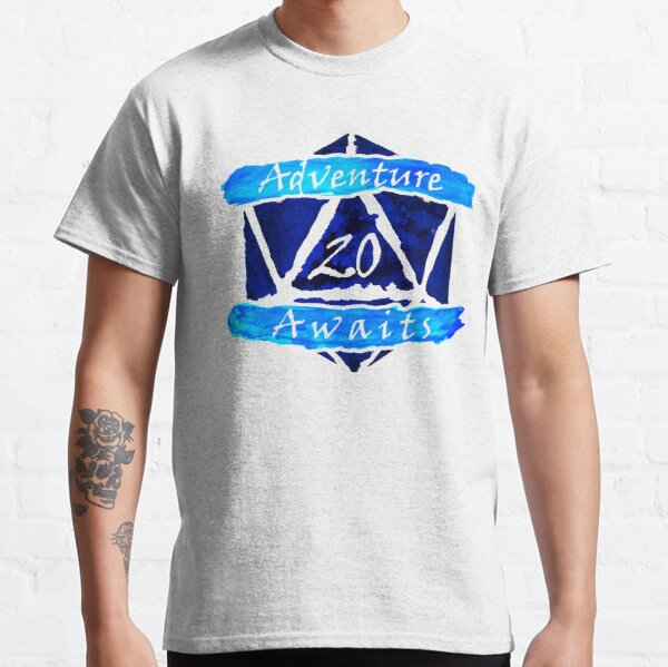 D20 Adventure Awaits Watercolor Cleric's Trail Classic T-Shirt