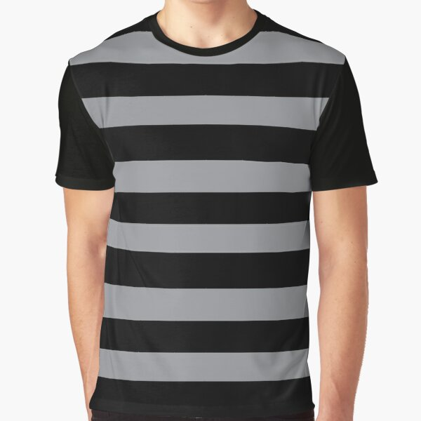 Black and Grey horizontal stripes - Classic striped pattern by Cecca Designs Graphic T-Shirt