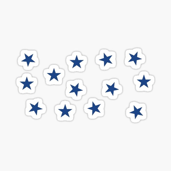 Dark Blue Stars Sticker