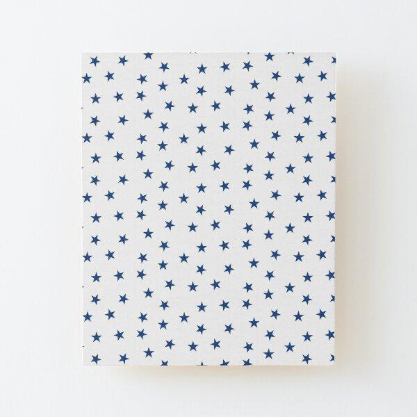 Dark Blue Stars Wood Mounted Print