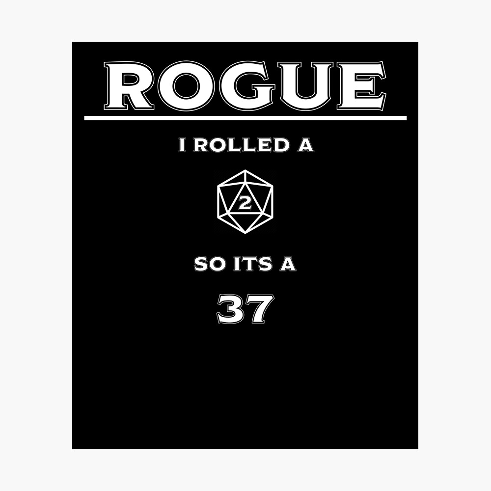 """Rogue Reliable Talent (White)"""" Metal Print by EchoTheBard 