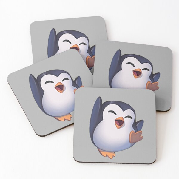 Joy Pengu Penguin Emote - League of Legends Coasters (Set of 4)