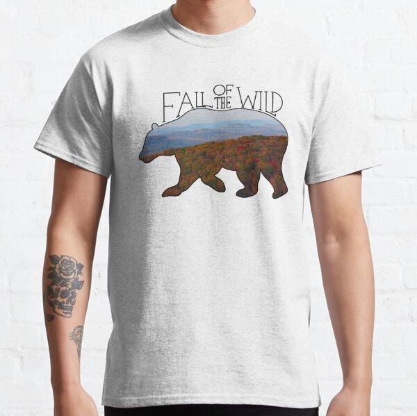 Fall of the Wild Autumn Mountain Wilderness Landscape Bear Silhouette  Classic T-Shirt