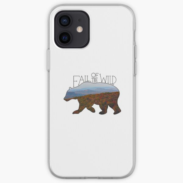 Fall of the Wild Autumn Mountain Wilderness Landscape Bear Silhouette  iPhone Soft Case