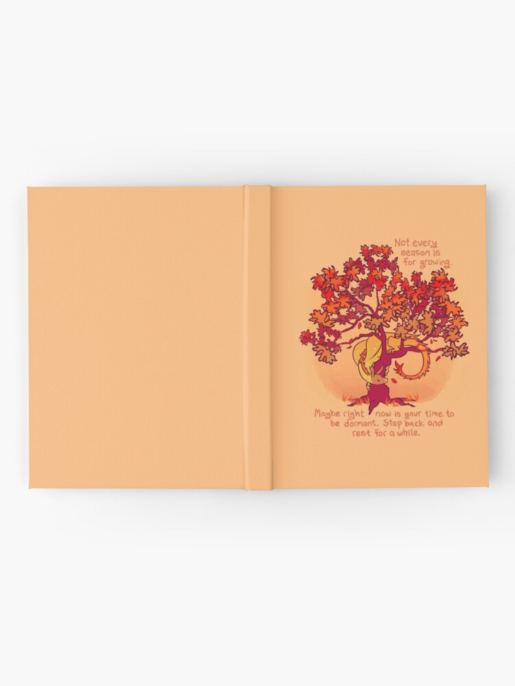 """Alternate view of """"Not Every Season is For Growing"""" Fall Dragon Forest Spirit Hardcover Journal"""