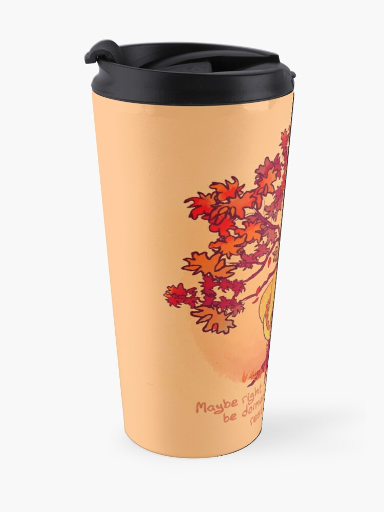 """Alternate view of """"Not Every Season is For Growing"""" Fall Dragon Forest Spirit Travel Mug"""