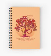 "Cuaderno de espiral ""No todas las estaciones son para crecer"" Fall Dragon Forest Spirit"