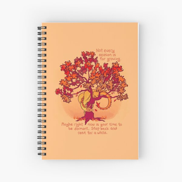 """Not Every Season is For Growing"" Fall Dragon Forest Spirit Spiral Notebook"