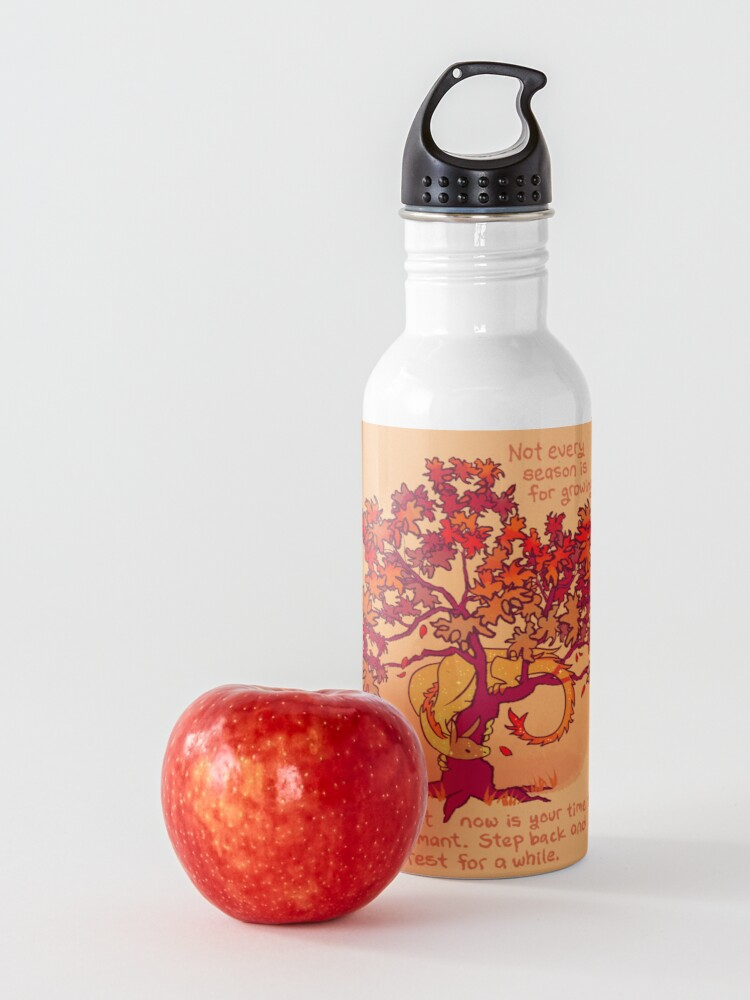 """Alternate view of """"Not Every Season is For Growing"""" Fall Dragon Forest Spirit Water Bottle"""
