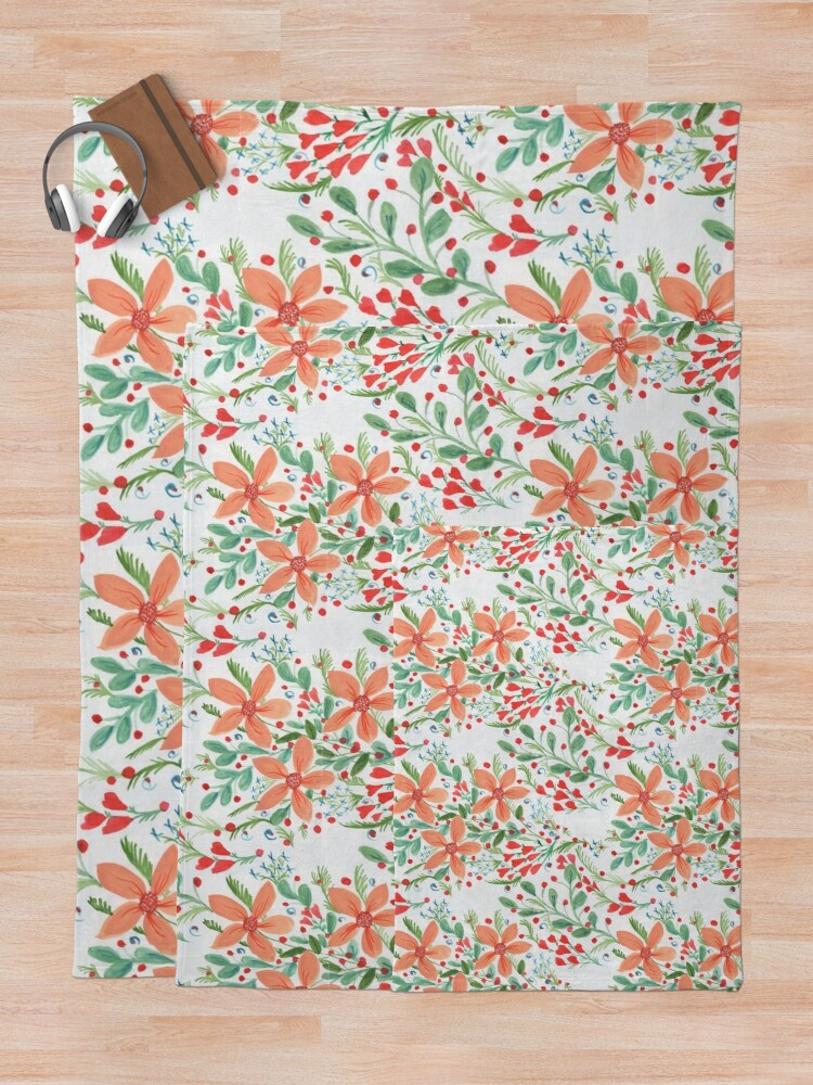 Alternate view of Floral Delights Throw Blanket