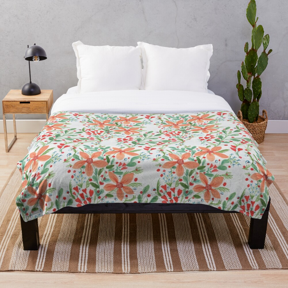 Floral Delights Throw Blanket