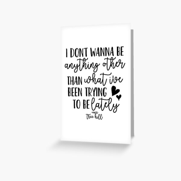 One Tree Hill Theme Song Greeting Card