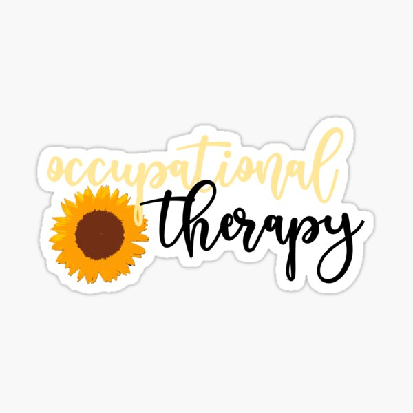 Occupational Therapy Sunflower Sticker
