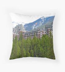 Banaff Fairmont Hotel, Canada Throw Pillow