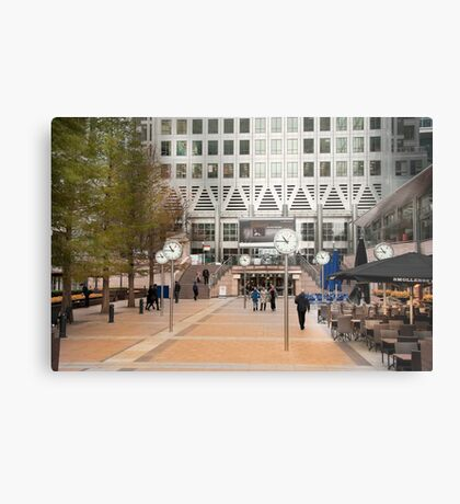 Time Check: Canary Wharf, London, UK. Metal Print