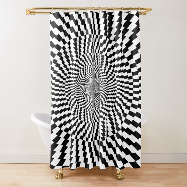#OpArt #VisualArt #IllusionArt #OpticalIllusion #VisualIllusion #CognitiveIllusion  Shower Curtain