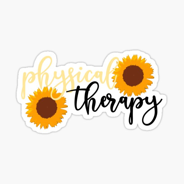 Physical Therapy Sunflower Sticker