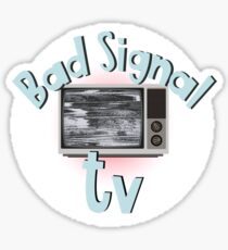 Bad signal tv Sticker