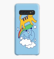 Cat Flying On A Skateboard Case/Skin for Samsung Galaxy