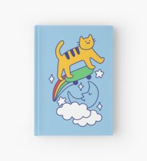 Cat Flying On A Skateboard Hardcover Journal