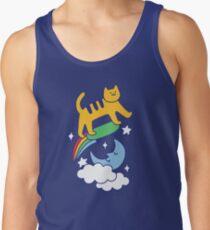 Cat Flying On A Skateboard Tank Top