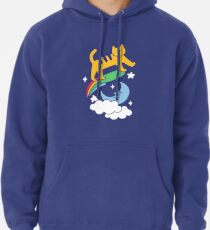 Cat Flying On A Skateboard Pullover Hoodie