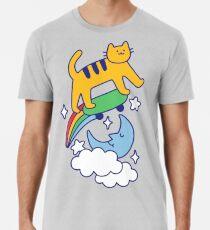Cat Flying On A Skateboard Premium T-Shirt