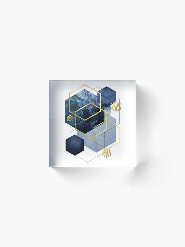 Alternate view of Geometric Symphony Acrylic Block