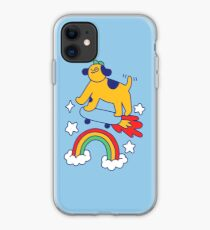 Dog Flying On A Skateboard iPhone Case