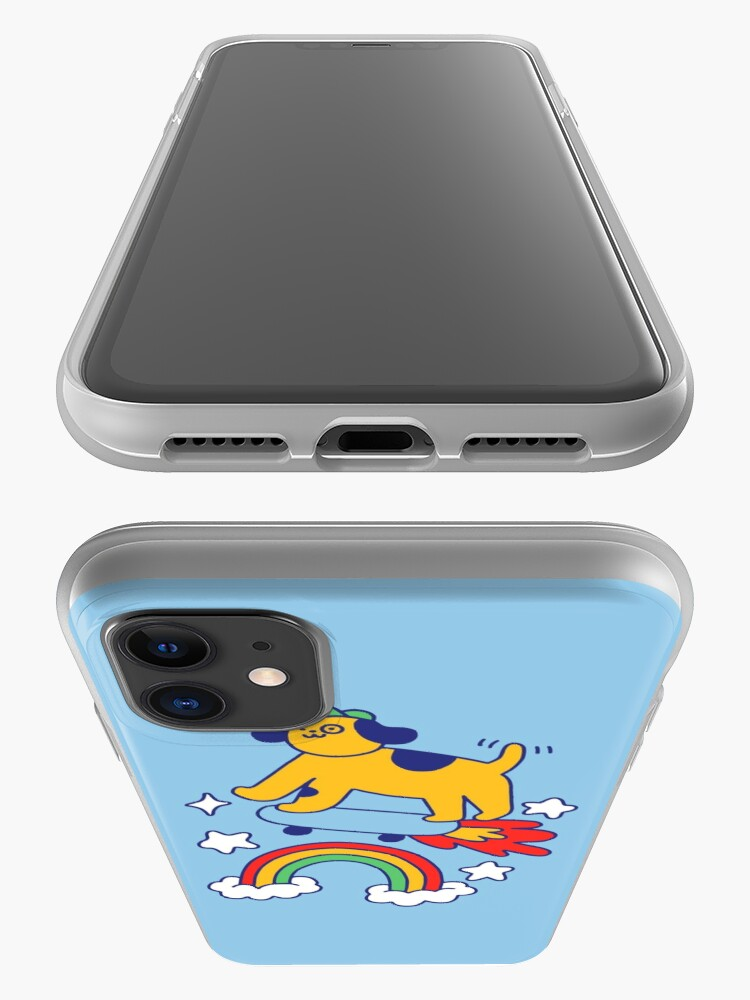 Alternate view of Dog Flying On A Skateboard iPhone Case & Cover